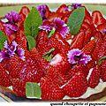 Tarte aux fraises a la creme pâtissiere