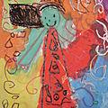 L'attente, à la manière de Gustav Klimt