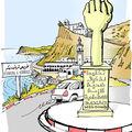 Monument à Korbous érigé en mémoire d'un martyre de la crise