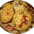 Cookies crousti moelleux energétique aux cranberries et aux noix