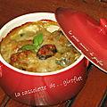 Cassolette aux poireaux, moules et st-jacques