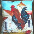 coussin coq