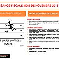 Échéance fiscale mois de novembre / november tax schedule