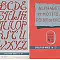 Alphabets et motifs au point de croix 2