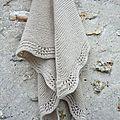 Le tuto du shawl en mousse et vagues.....