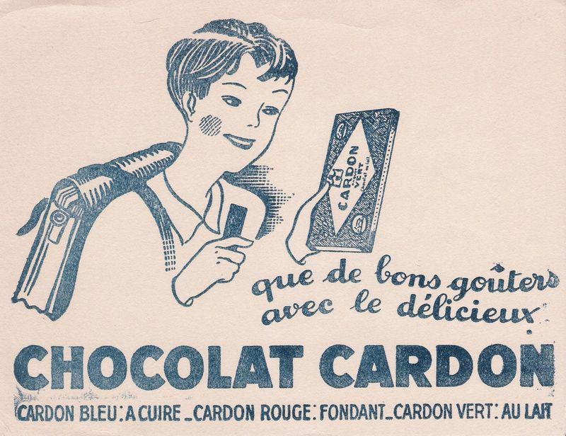 Buvard chocolat Cardon