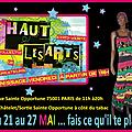 Expo-vente haut les arts du 21 au 27 mai