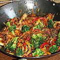 Poelee de legumes au wok
