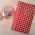 Cahier journal vichy rouge 8€