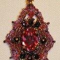 Carmel rose pendentif