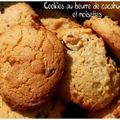 Cookies noisettes et beurre de cacahuètes