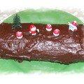 Bûche de Noël chocolat/marrons