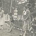 Partie de croquet avec Louisette