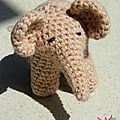 #chouettekit, #crochet : petit éléphant ck25