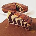 Gâteau zébré (zebra cake)