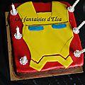 Petit gâteau iron man