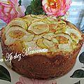 Gâteau aux pommes de mon verger mascarpone et jus de pomme