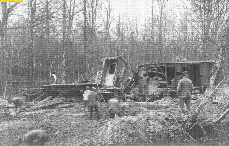 Explosion train de munitions - Anor Mondrepuis 1919