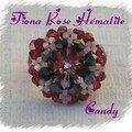 Bague fiona rose hématite