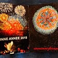 Fin d'année , un peu de crochet....et feux d'artifice pour accueillir 2015 ..