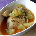 Curry de poulet aux chouchoutes