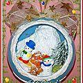 Boule Tout Schuss Bohommes neige 12cm
