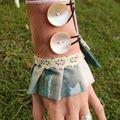 Bracelet manchon à jabot et dentelle 'antoinette'