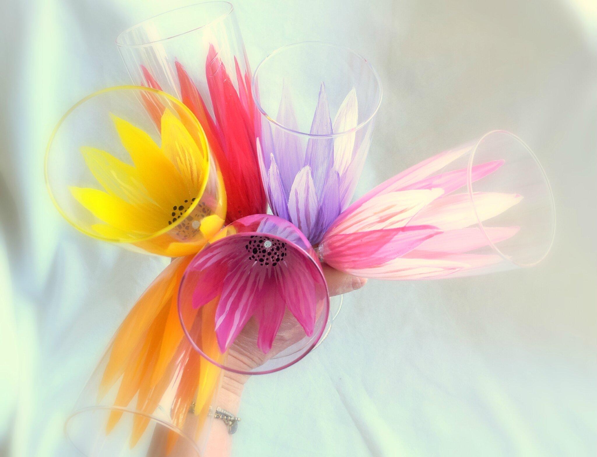 Uu bouquet de flûtes arc-en-ciel !!!