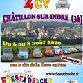 Sixième concentration de 2 cv et véhicules dérivés à châtillon-sur-indre.