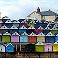 Balades sur l'immense plage de frinton on the sea (uk)