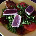 Salade de pomme de terre au thon rouge