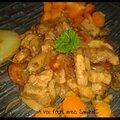Porc saute aux légumes sauce saké
