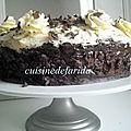 Gâteau chocolat mousse pralinoise
