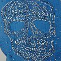 Echarpe Etole Foulard 'Skull' avec strass