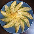 Carpaccio de melon au thym et aux agrumes