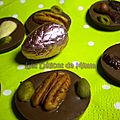 Palets de chocolat aux fruits secs