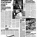 Quelques affaires de réseaux pédophiles en belgique avant l'affaire dutroux