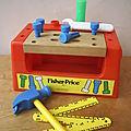 Boite à outils / établi Fisher Price -1980