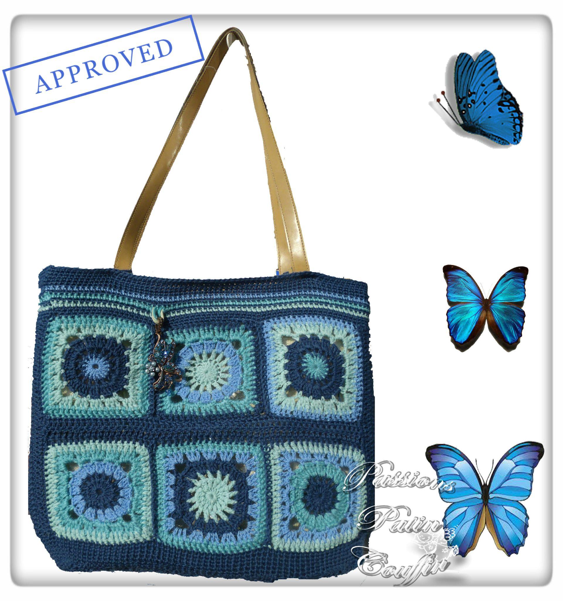 sac granny bleu