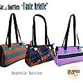 Collection sac / besace tante arlette : kitsch, retro, vintage, froufrou chic maroquinerie - made in france - crapule factory