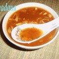 Soupe chinoise a la tomate
