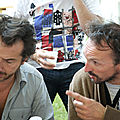 Jénorme en peignoir et Edouard Baer, Satiradax 2012 (40)