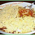 Crumble tomates, courgettes et chèvre
