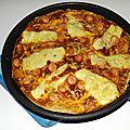 Pizza-omelette aux knackis