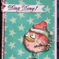 Cartes de voeux crazy birds tim holtz