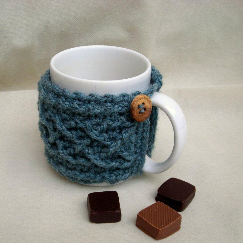 mug cosy bleu