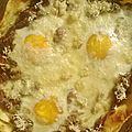 Tarte à la mexicaine aux oeufs et au fromage