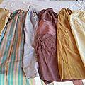 Vido gardo raubo : des tabliers en soie ou en coton ...... c'est selon le costume