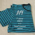 Diy t-shirt transformé en bonnet et snood * how to upcycle a t-shirt into a hat and snood