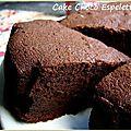 Cake chocolat piment d'espelette